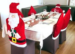 Dining Room Chair Cover Christmas Ribbons