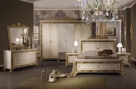 schlafzimmer karla beige bett 180 schrank 6trg klassik