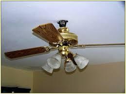 ceiling fan hunter fan company 44 in baseball leather brown