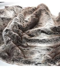 plaids fausse fourrure pour canapé plaid fausse fourrure luxe gris 130 x 180 cm plaid fausse fourrure