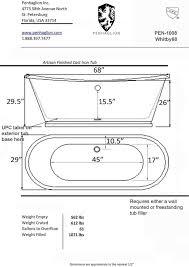 45 Ft Drop In Bathtub by Best 25 Standard Tub Size Ideas On Pinterest Large Style