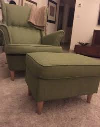 strandmon wing chair green zoomly