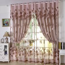 luxus moderne blätter designer vorhang tüll fenster schiere vorhang set für wohnzimmer schlafzimmer 1 stück vorhang und 1 stück tüll