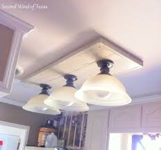 replace fluorescent light fixture in kitchen also lighting