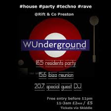 100 Wundergrond WUnderground Residents House Techno Party Tickets Rift