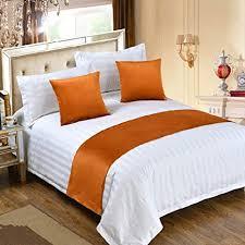 kao0yan bettläufer betttuch bett fahne bett flagge europäischen stil baumwolle dekoration bettwäsche hotel bett handtuch schlafzimmer bettdecke orange