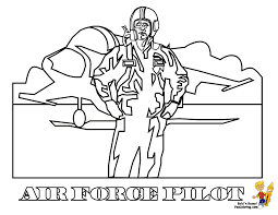 Air Force Pilot Coloring At YesColoring