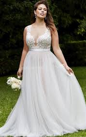 Elegant Plus Size Lace Wedding Dresses Vintage Bridal Gowns With Sheer Illusion Back 2017 A