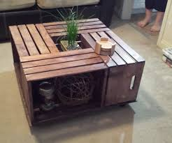 Fancy Wooden Crate Coffee Table 63 For Your Home Decorating Ideas With
