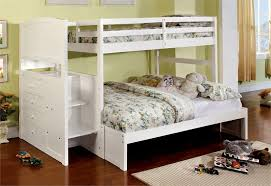 Incredible White Bunk Beds With Stairs White Twin Over Full Bunk