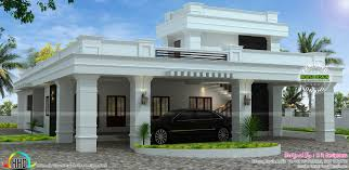 Decorative Single House Plans by Single Floor Decorative Flat Roof House Kerala Home Design And