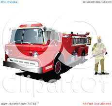 Royalty-Free (RF) Clipart Illustration Of A Fireman Standing By A ... Firefighter Clipart Fire Man Fighter Engine Truck Clip Art Station Vintage Silhouette 2 Rcuedeskme Brochure With Fire Engine Against Flaming Background Zipper Truck Clip Art Kids Clipart Engines 6 Net Side View Of Refighting Vehicle Cartoon Sketch Free Download Best On Free Department Image Black And White House Clipground Black And White