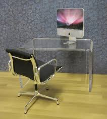 Clear Acrylic Office Chair Uk by Clear Acrylic Minimalist Desk Elf Miniatures