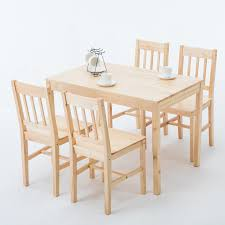 5 Piece Natural Pine Wood Solid Dining Table And 4 Chair Set Kitchen ... Kids Table And Chairs In Pine Woodnatural Kids 60 X 2 Kaubystorns Table 6 Chairs Antique Stain 201 Cm Ikea Rustic Seats 10 Recycled Reclaimed Wood With Natural Ikayaa Modern 5pcs Pine Wood Ding Set Kitchen Dinette Amazoncom Hcom 5 Piece Solid High Back Pcs Wunderbar Sheesham 8 Round Grey Side Silk Decor Elegant Bench For Inspiring Bedroom Fniture 4 White Natural Sold Annika Bistro Two Noa Nani Signature Design By Ashley Grindleburg 7 Rectangular 4d Concepts Urban Loft 3piece Breakfast