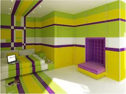 The Kings Cake Bedroom Purple Green Yellow