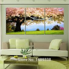 Wall Art Designs Nature Three Piece Frames 3 Pieces Free Shipping Hot Sell