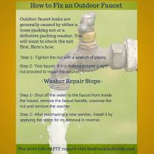 Fixing Outdoor Faucet Handle by Diy Outdoor Faucet Repair Visual Ly