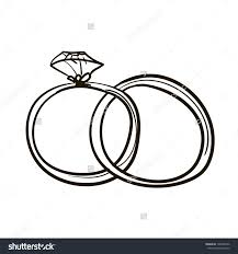 Wedding Rings Drawing Two Wedding Rings Clipart – Bbcpersian7 Collections 396