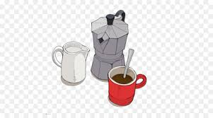 Coffee Cup Cafe Kettle Illustration