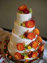 A Beautiful Fall Wedding Cake By DonnaOK On Cakecentral