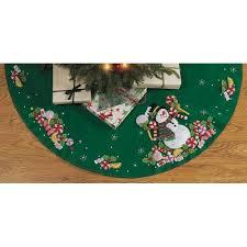 Bucilla Christmas Tree Skirt Kit Candy Snowman