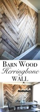 Barn Wood Herringbone Wall