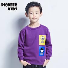 Pioneer Kids 2016 Winter Fashion Boys Sport Hoodies Cartoon Warm