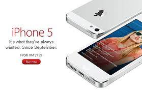 iPhone 5 now available from Malaysia Apple line Store