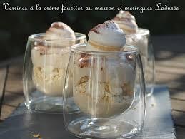 dessert avec creme fouettee verrines à la crème fouettée au marron et meringues ladurée la