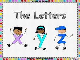 The Letters x y and z by Teacher of Primary Teaching