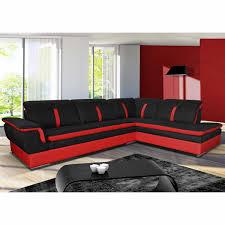 canape d angle noir et blanc canapé angle droit en tissu savanah noir et pvc viper dya