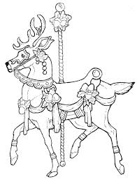 Free Printable Horse Coloring Pages For Adults Advanced Carousel Animals Horses Best Ideas On Simple