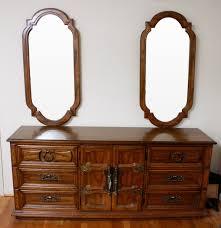 vintage oak american drew double mirror dresser ebth