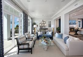 Blue And White Living Room Dining Coastal
