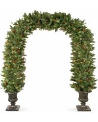 85 Foot Wintry Pine Archway In Dark Bronze Fiberglass Pot Green National