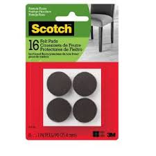 scotch felt pads brown round 1 16pk target