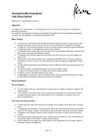 Assistanter Resume Retail Fashion Cv Examples Skills Inside Buyer