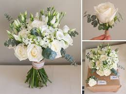 Country White Wedding Bouquet