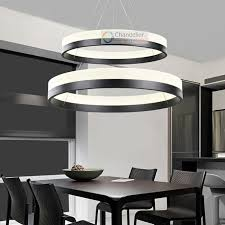 Round Dining Room Light Fixture Absurd Two Sizes Modern Contemporary 2 Rings Pendant Ceiling Lamp Home