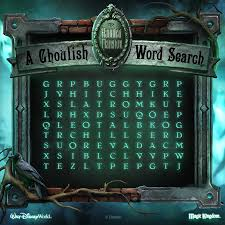 Haunted Halloween Crossword Puzzle Answers by Word Search The Haunted Mansion Disney Parks Blog