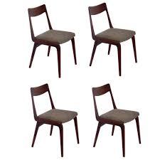 Set Of Four Danish Modern Boomerang Dining Chairs By Erik Christensen