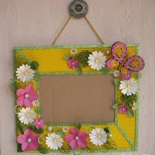 Cards Crafts Kids Projects Paper Flowers On Handmade Photoframe With How To Make Photo Frames Step By