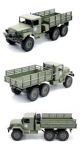 100 Rc Military Trucks 24g 116 Scale Truck 6x6 Rtr Us M35 Army Crawler Cars