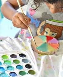 Coloring With Watercolor Art On Wood