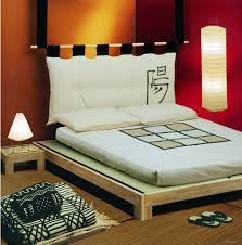 Table Lamps Bedroom Walmart by Bedroom Oak Wood Frame Tatami Bed With White Mattress And Bedside