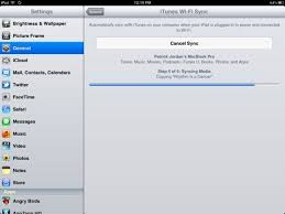 How To Setup Wi Fi Sync for the iPad in iOS 5