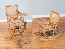 Antique Baby High Chair That Also Transforms Into A Rocking ...