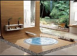 Bathroom Marvelous Modern Spa Natural Design With Round
