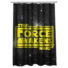 Star Wars The Force Awakens in Yellow Shower curtain Justvero