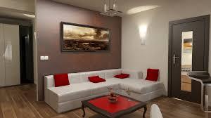 bilder 3d interieur wohnzimmer rot weiß 2